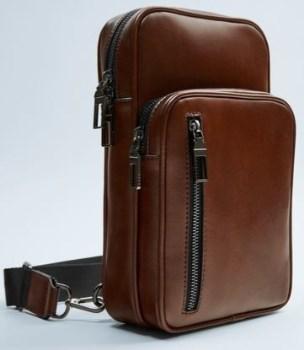 کیف کمری زارا مردانه مدل 6517-005-BROWN
